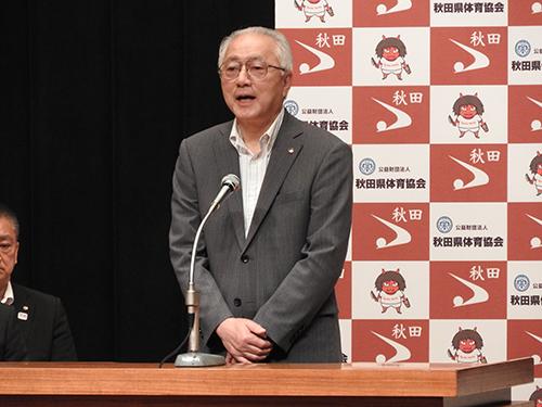 堀井副知事より激励の言葉