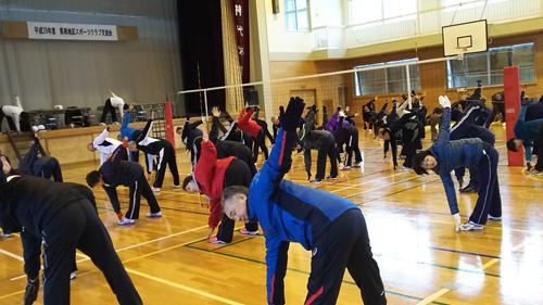 参加者全員での体操