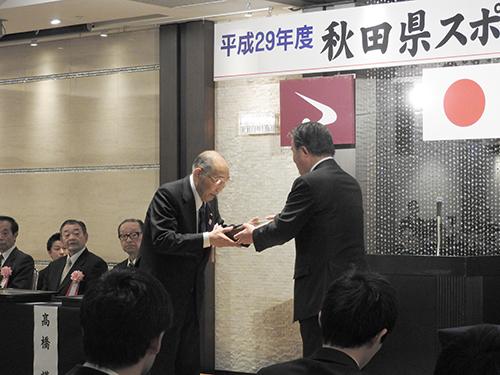 特別功績者賞受賞の鈴木前副会長