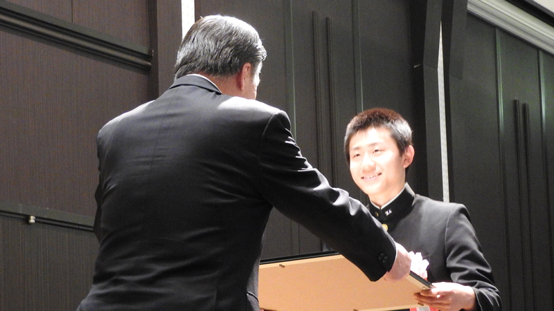 畠沢国体賞受賞の木村さん