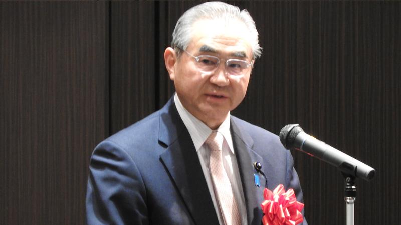 鶴田議長の祝辞