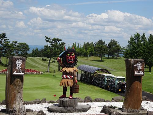 男鹿ゴルフクラブコース入口
