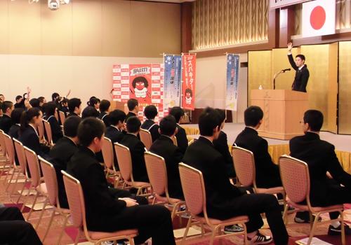 秋田県中学生強化選手指定証交付式