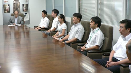 本部役員並びに日本選手団